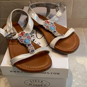 Steve Madden jeweled sandals for girls, size 13